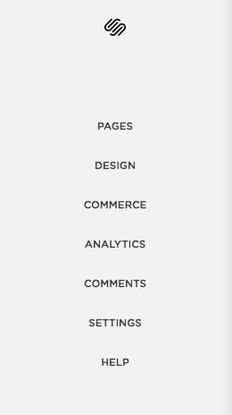 Left hand panel, select 'Design'