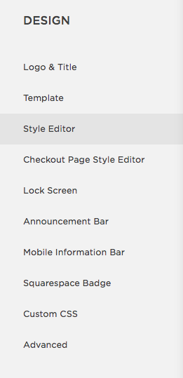 Select 'Style Editor'