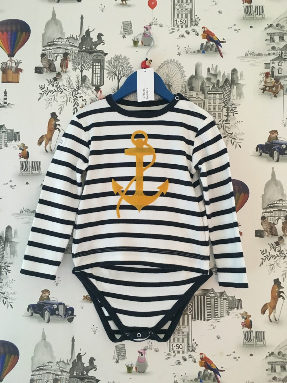 Breton Navy Stripe Anchor from  £17  sizes 3-4yrs/5-6yrs/7-8yrs/9-10yrs