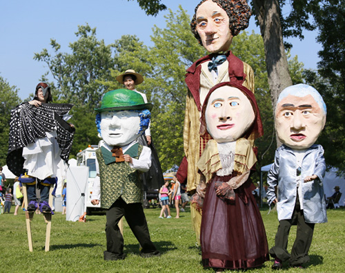Shadowland Theatre group at Artfest Kingston - 2014