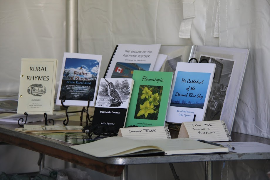 Poetry Books for sale at Poets @ Artfest Tent