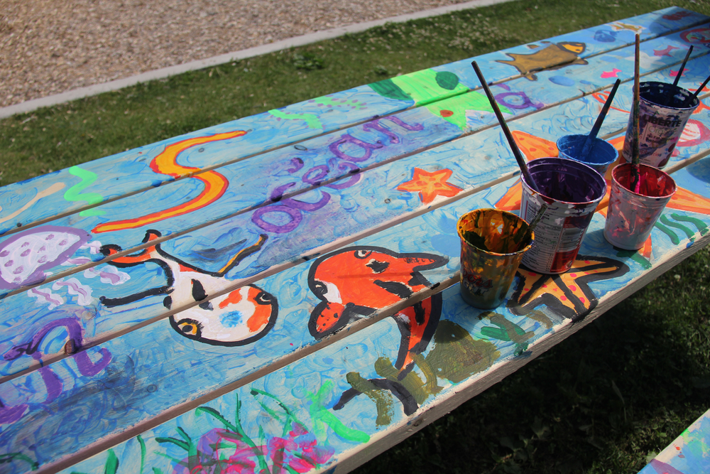 Under the Sea~ Family Picnic Table Project