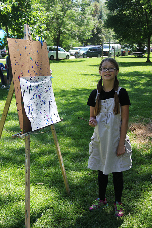 Budding young artist