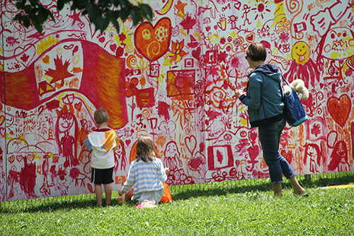 Artfest Mural ~ Day 1