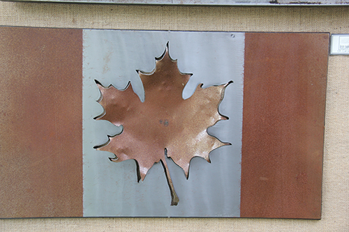 Iron Oak Designs~ Metal Canadian Flag