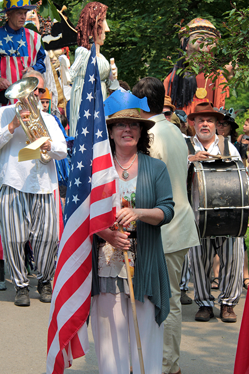 Lorty MacDonald leading the Artfest Parade