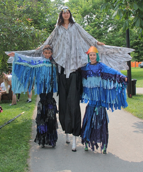 New Stilt Walkers at Artfest