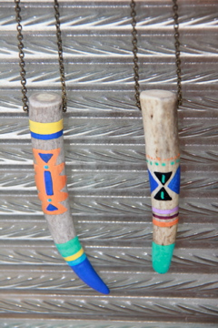 Raw Eco Jewellery~ handpainted antler