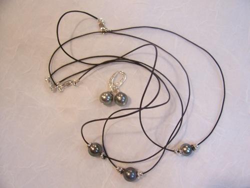 Luce Gilbert Artfest Extra #18 Colliers & Boucles Perles Tahiti + Cuir.jpg