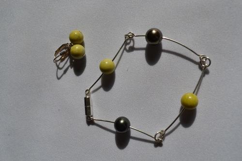 Luce Gilbert Artfest Extra #19 Bracelet Fil Argent + Perles Tahiti+Pierres.jpg