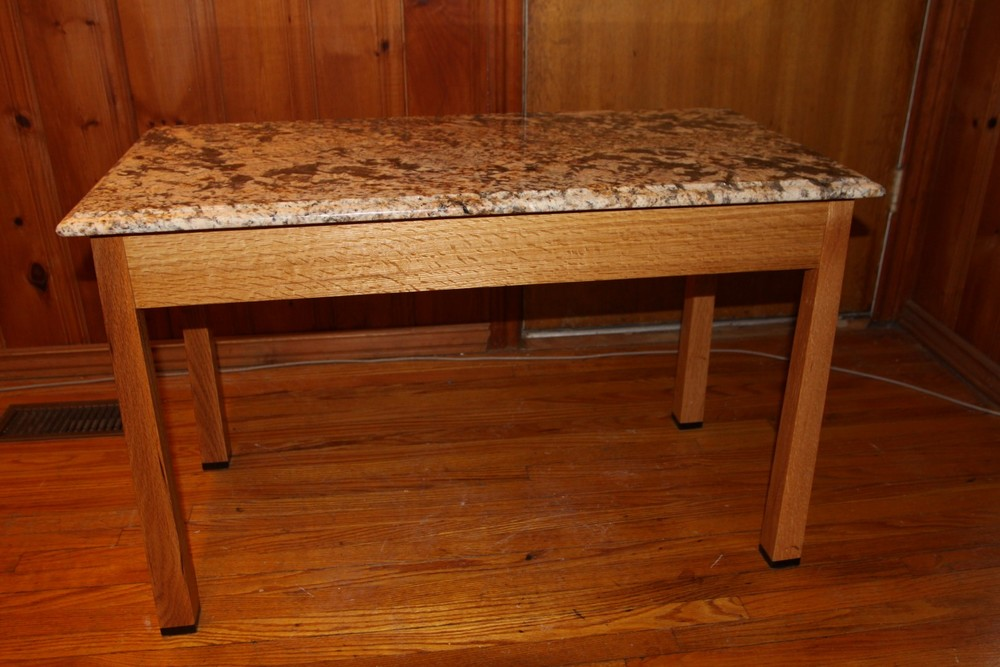 10 - Quarterr-sawn oak table, granite top.JPG