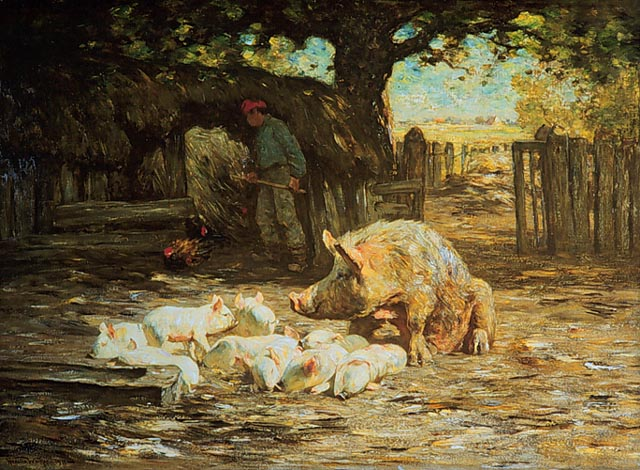 Horatio_Walker_-_Little_White_Pigs_and_Mother_-_1911.jpg