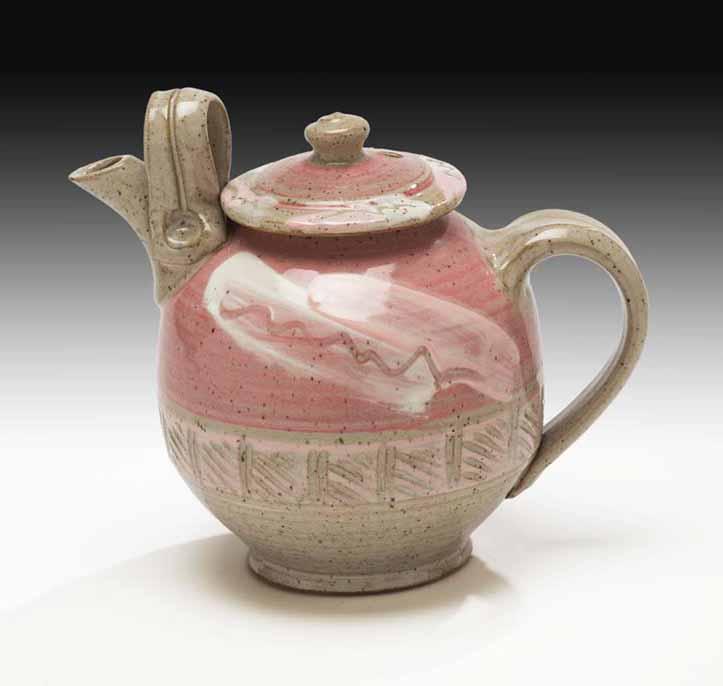 2 Harper Pottery Pink Teapot  (Large )  $90.jpg