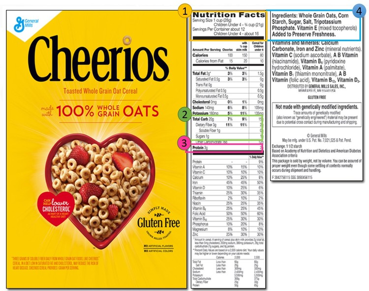 Cheerios nutrition facts label besto blog - Label cuisine perigueux ...