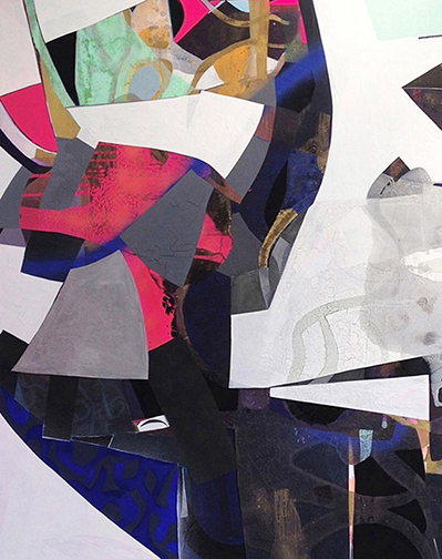 """Erika Ranee, Must Be Nice (detail), 72""""x72"""" (overall), 2014"""