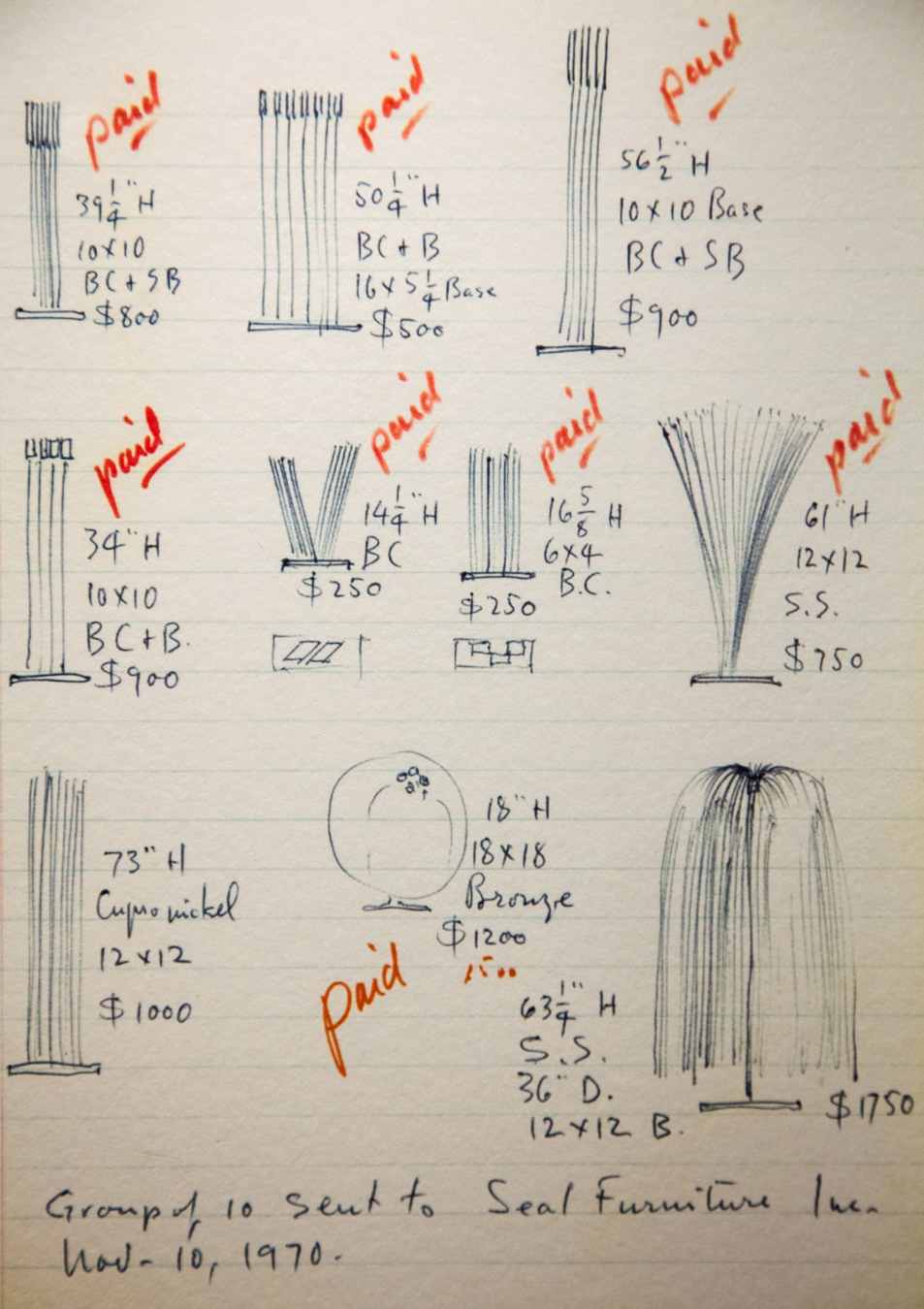 Harry Bertoia Design Notes