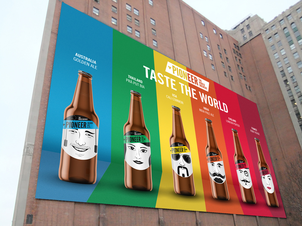 "Large format colour ways billboard ad, ""Taste the World"""