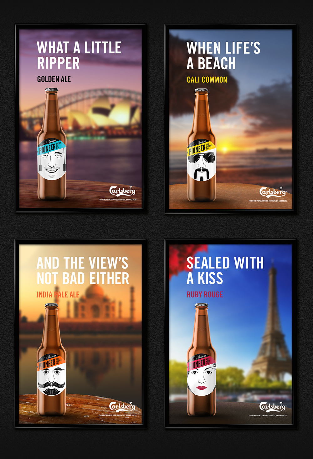 Print advertising campaign for a selection of the brews