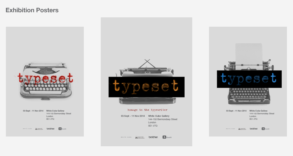 Advertising and Posters — Homage to the Typewriter