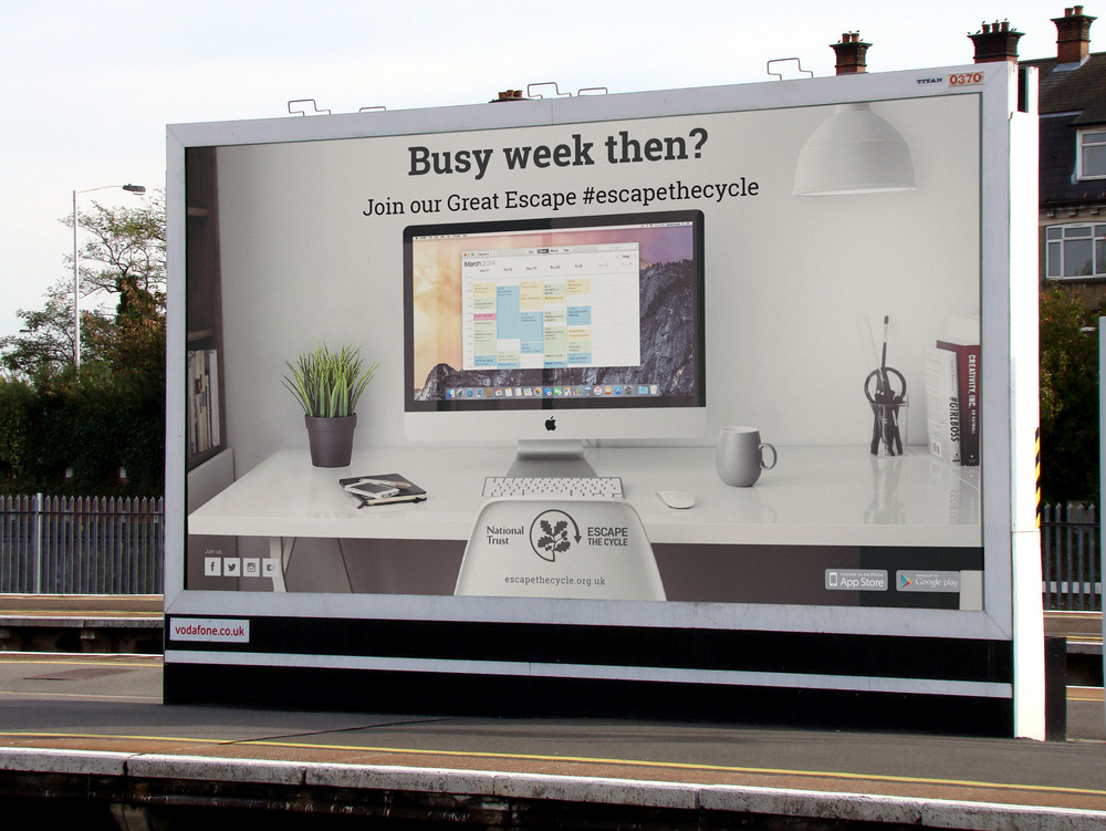 Billboard advertising aimed at the younger, professional target audience