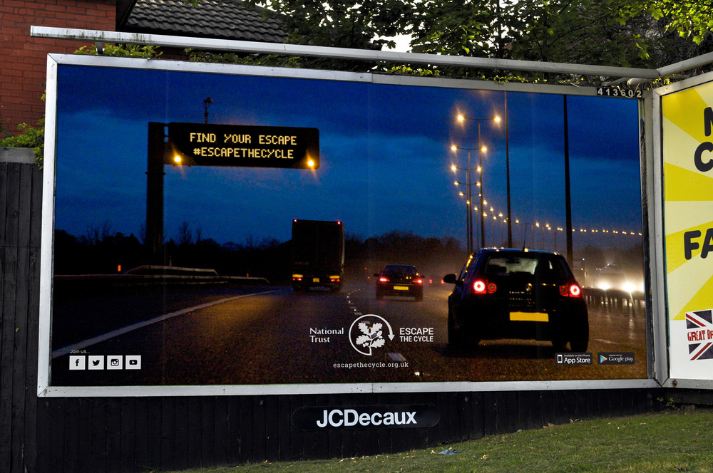 Escape the Cycle Billboard Advertising — D&AD National Trust