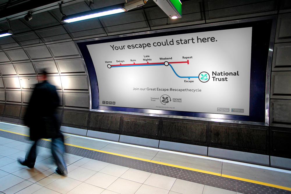 Escape the Cycle Underground Advertising — D&AD National Trust
