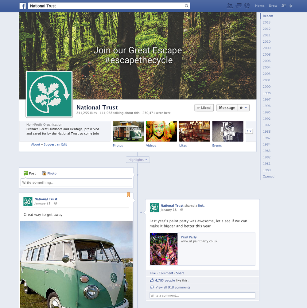 Facebook Social Media Page — D&AD National Trust