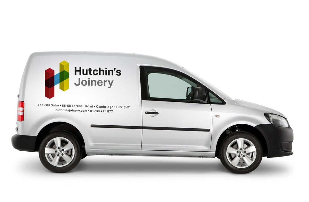 Volkswagen Caddy Livery Mockup and Clothing Branding — Hutchin's Joinery Branding and Identitiy