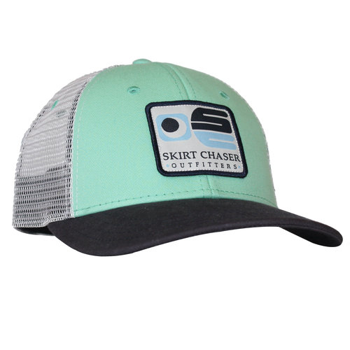 6cac7625 Patch Trucker Hat - Seafoam — Skirt Chaser Outfitters