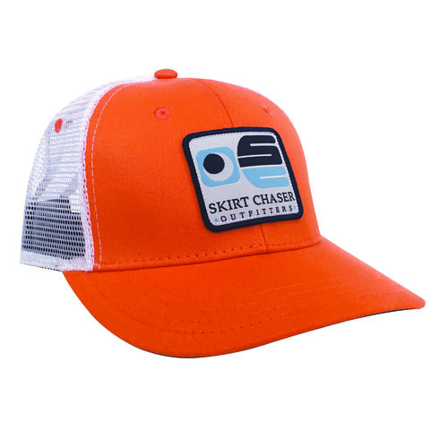 54ac6dfd Patch Trucker Hat - Orange — Skirt Chaser Outfitters