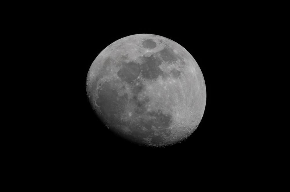 Waxing Moon 03312015 21:42 EST  Nikon D7000 ISO 100 600mm f/18 1/125 sec