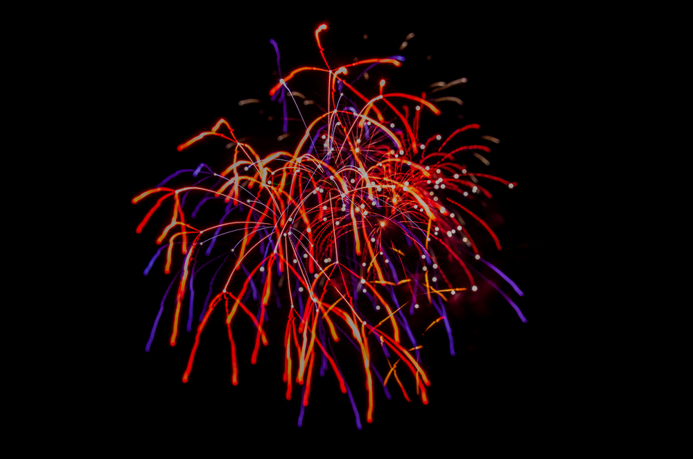 Abstract Fireworks  Nikon D7000 ISO 400 f/18 30 mm 4 sec.