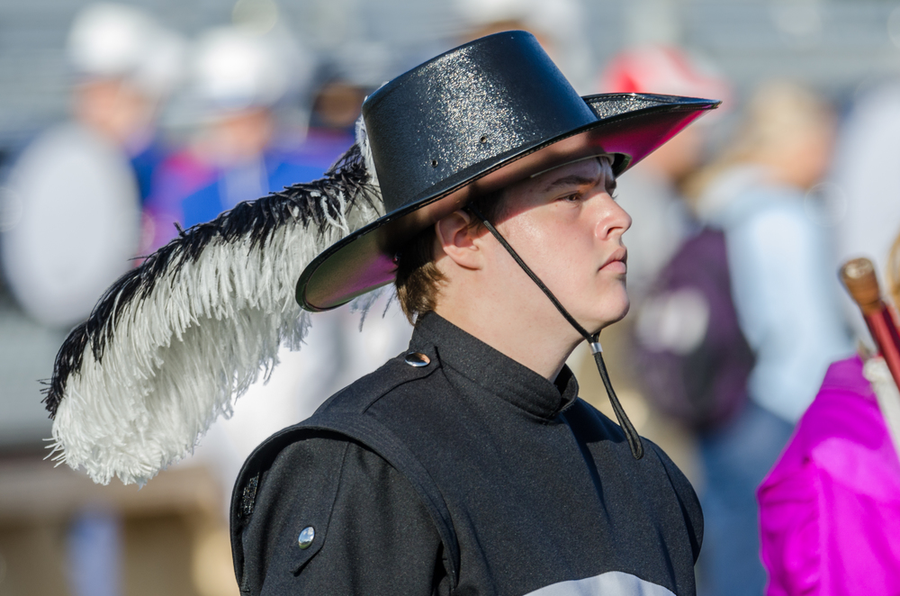 """Game Face"" - Brookville Drum Major  Nikon D7000 IS) 200 380mm f/6.0 1/320 sec."