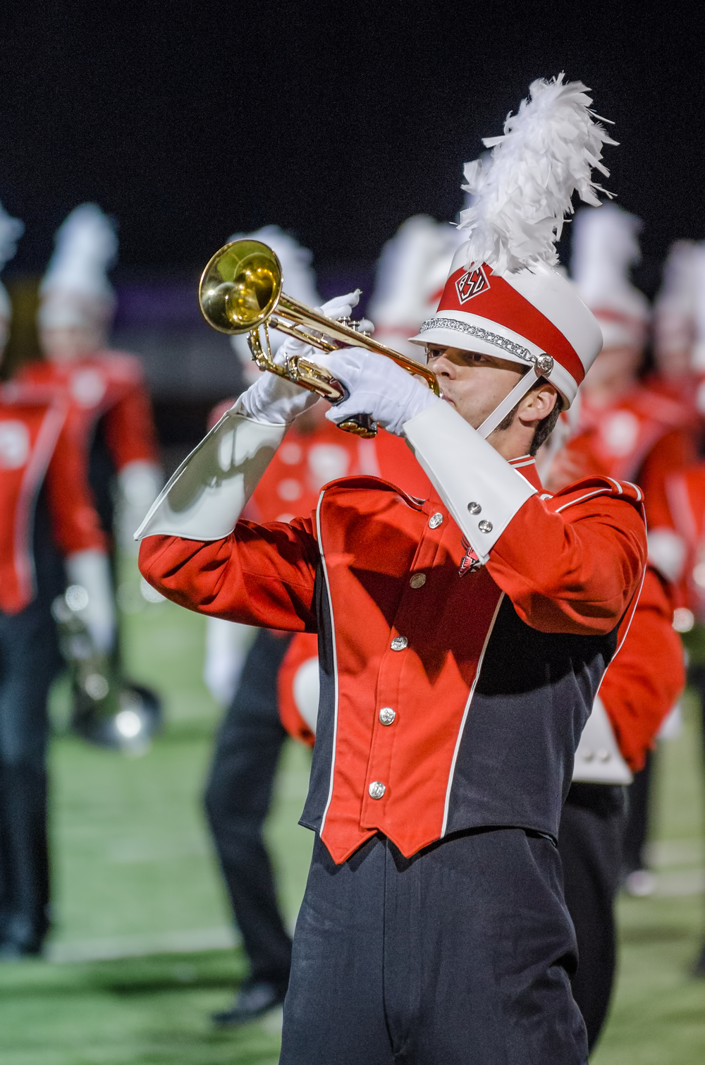"""Flying Solo"" Ball State Trumpet Solo  Nikon D7000 ISO 1600 200mm f/2.8 1/200 sec."
