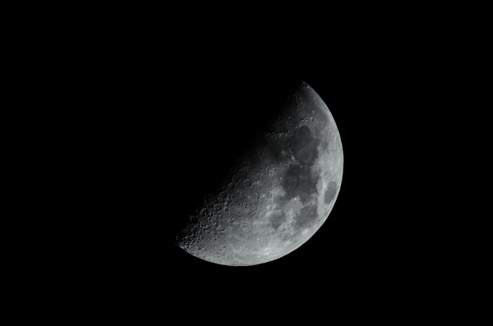 Waxing Moon 10202015 21:52 PM EDT  Nikon D7000 ISO 100 600mm f/11 1/320 sec.