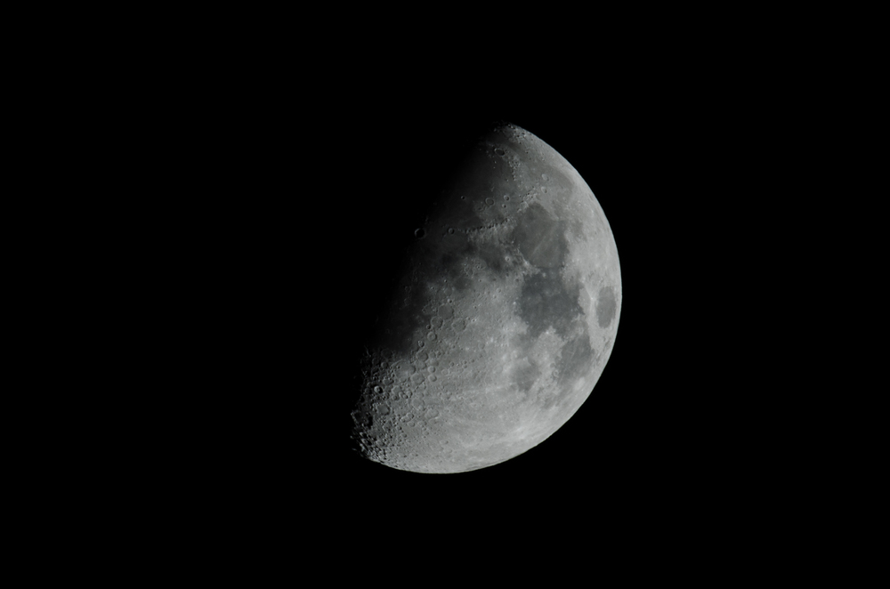 Waxing Moon 10212015 21:35 PM EDT  Nikon D7000 ISO 100 600mm f/11 1/160 sec.