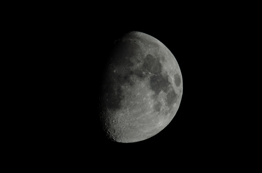 Waxing Moon 10222015 21:29 PM EDT  Nikon D7000 ISO 100 600mm f/11 1/200 sec.