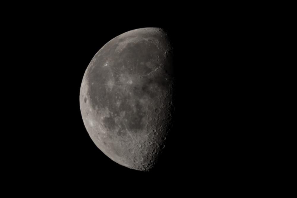 Wanning Gibbous Moon  01302016 Nikon D750 ISO 200 1200mm f/8.0 1/125 sec.