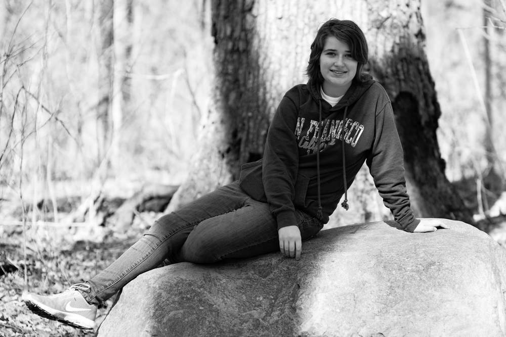Emma on Bartlett's Rock   ISO 125 85mm f/2.8 1/500 sec.