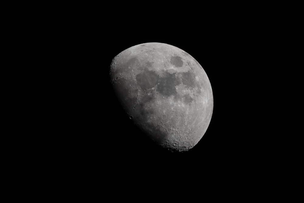 Waxing Gibbous March 17, 2016  Nikon D750 ISO 100 600mm f/11 1/160 sec.