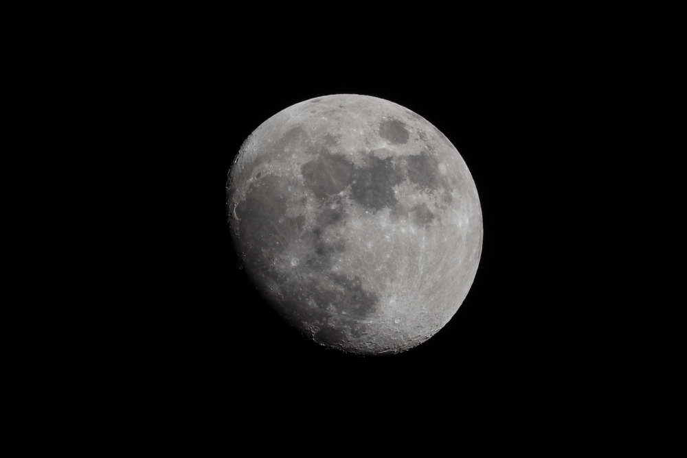 Waxing Gibbous 19 March 2016  Nikon D750 ISO 100 600mm f/18 1/125 sec.