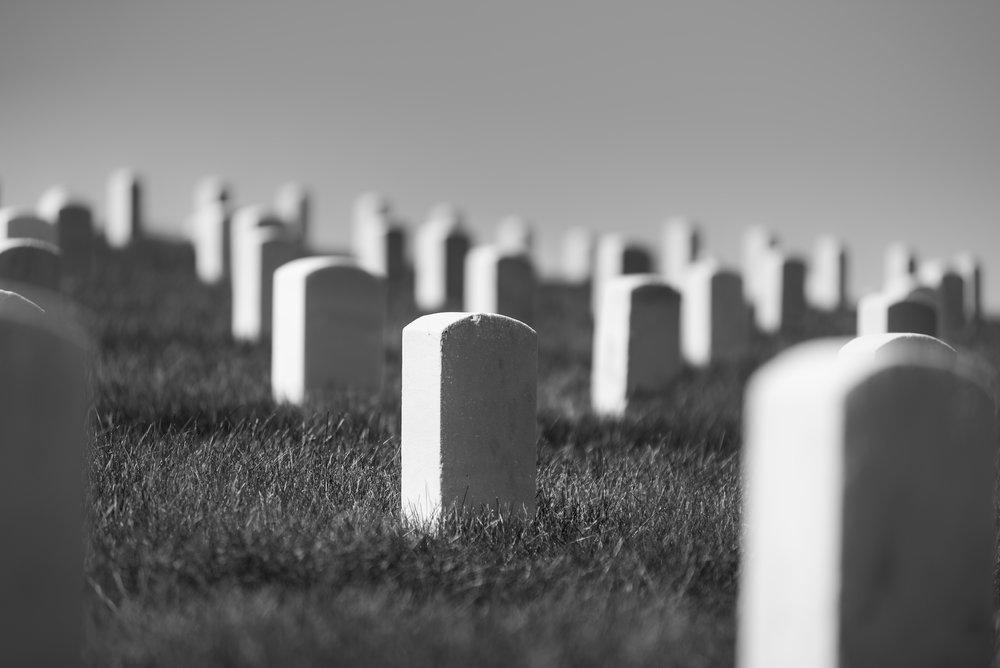 Dayton VA Grave stones
