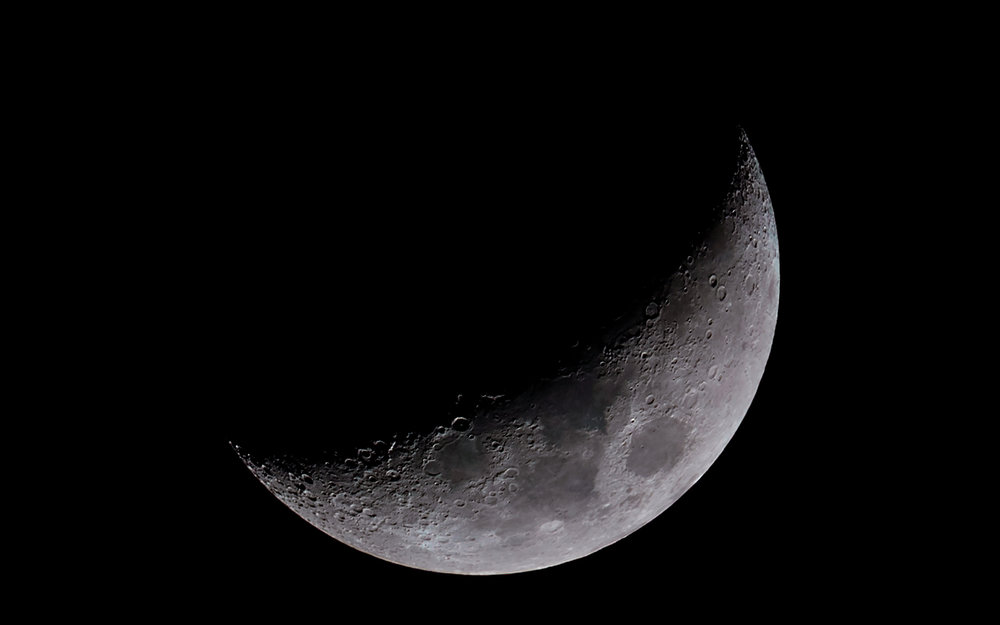 Waxing Crescent Moon 22% Illuminated 5 days old