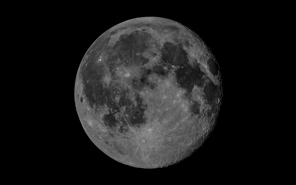 Waning Gibbous (1200mm with Tamron 150-600mm and Sigma 2X convertor) 25 Images stacked in RegiStax 6