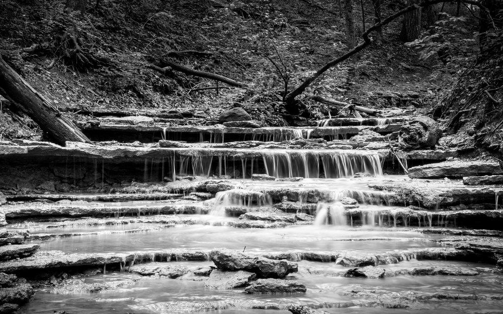 Cox Arboretum and Gardens MetroPark waterfall