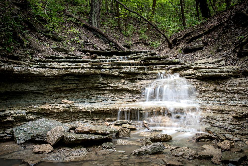 Cox Arboretum Waterfall