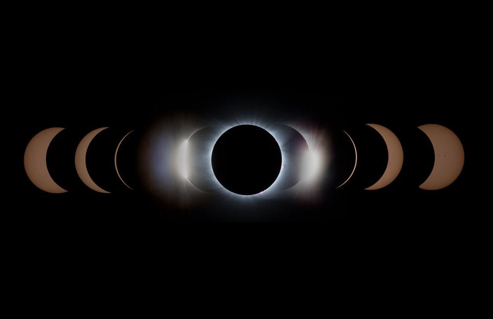 Time Lapse Composite - Solar Eclipse 2017