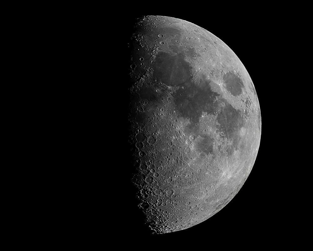Moon (9 image stack in RegiStax 6)
