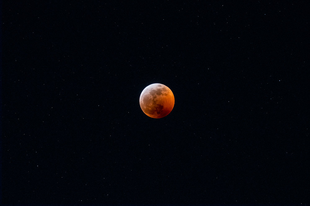 Super Blood Wolf Moon - Totality and Stars