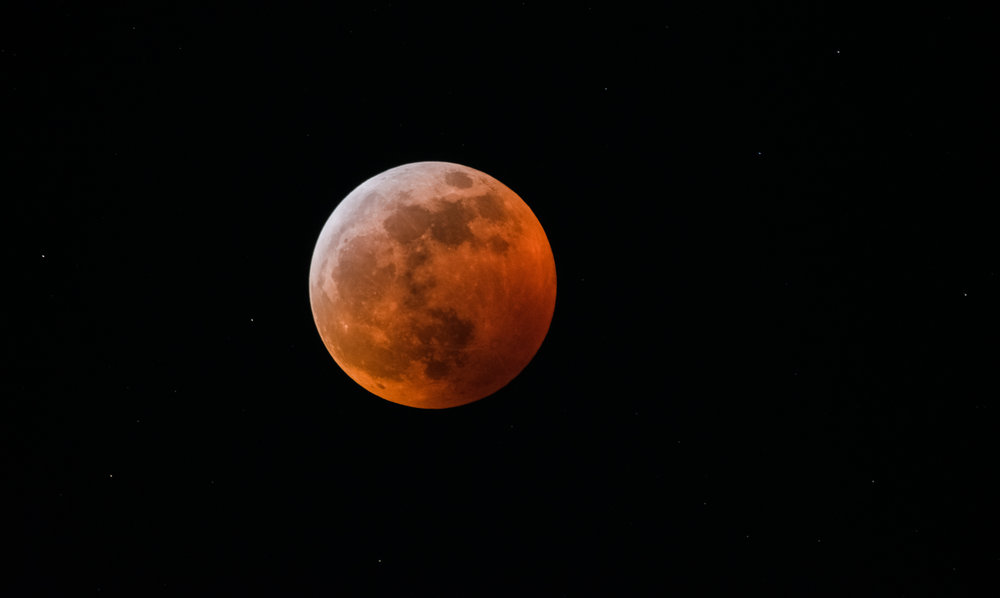 Super Blood Wolf Moon -Llunar Eclipse Near Totality